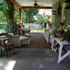 traditional porch Front Porch Makeover Summer 2010