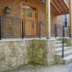 Front Porch Railings Contemporary Exterior