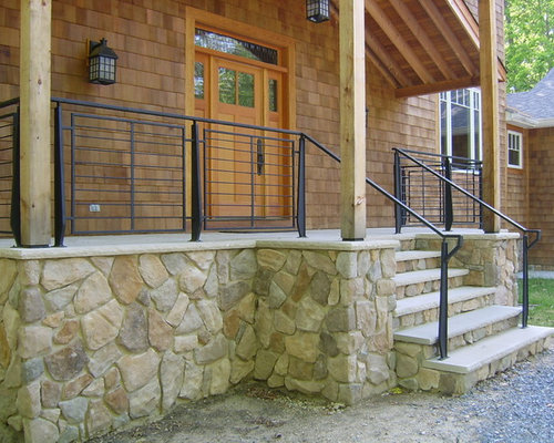 Front Porch Railing Home Design Ideas Pictures Remodel