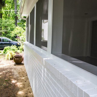 This is an example of a modern front porch design in DC Metro.