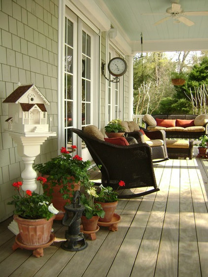 traditional porch by Eddie Rider Designs