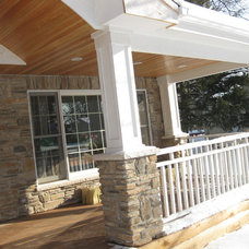 Traditional Porch by Synergy Builders Inc.