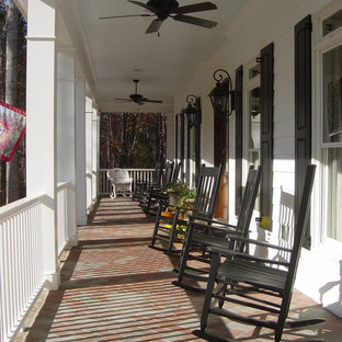 Front Porch With Rocking Chairs | Houzz