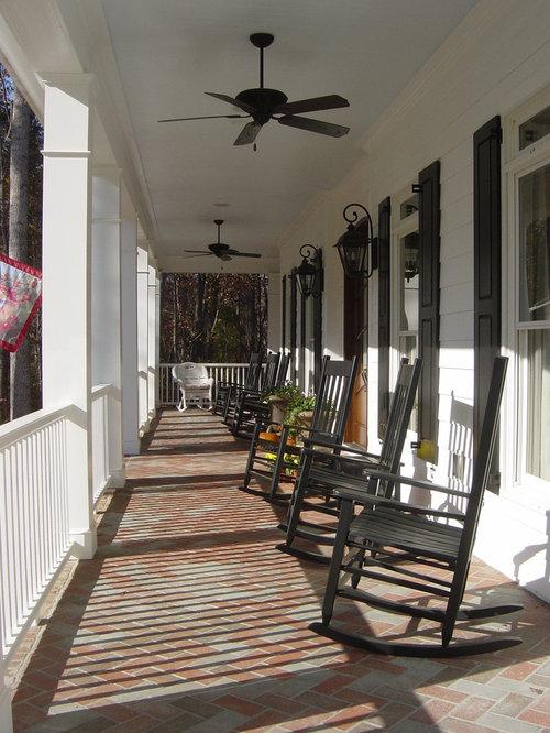 Front Porch Railing Columns Brick Detail Home Design Ideas