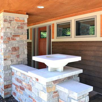 front terrace - detail