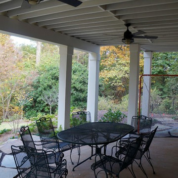 Gable/Shed roof open porch with Fiberon Decking