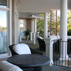 Contemporary Porch by Gabriel Builders Inc.