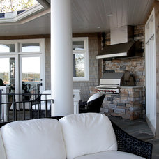Contemporary Porch by Gabriel Builders Inc.