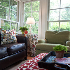eclectic porch by Anna Baskin Lattimore Design
