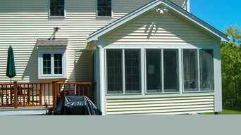 Garage and sun rooms