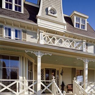 Ornate three-story exterior home photo in Boston