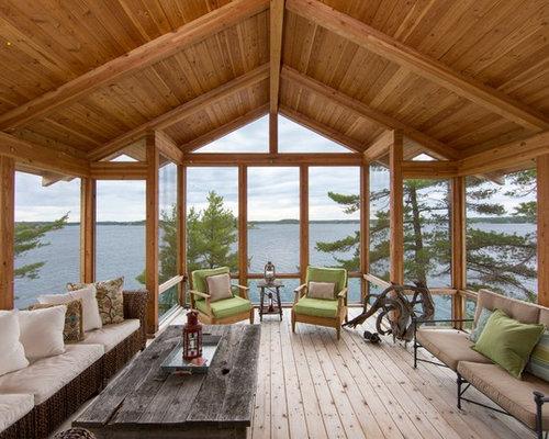 perfect ejemplo de porche cerrado rural grande en patio trasero y anexo de casas with fotos porches rusticos with fotos de porches rusticos - Porches Rusticos