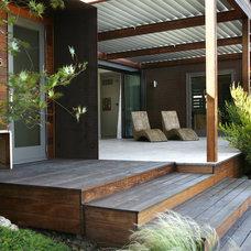 Modern Porch by Margie Grace - Grace Design Associates