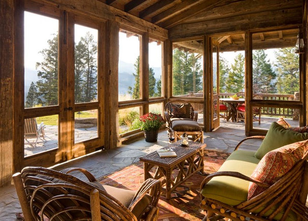 Rustic Porch by On Site Management, Inc.