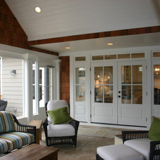 Eclectic Porch by Cynthia Karegeannes, Registered Architect