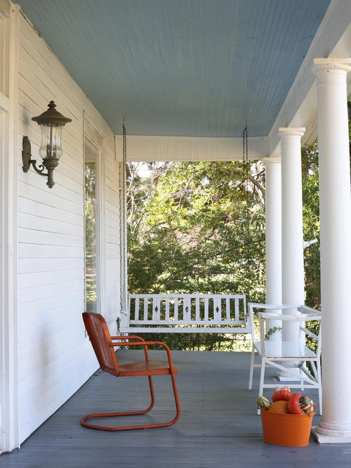 Inspiration For A Timeless Porch Remodel In New York With Decking And A  Roof Extension
