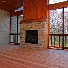 Traditional Porch by GreenWood Design Build