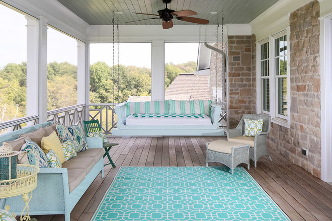 Beach Style Porch by Artisan Signature Homes
