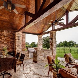 Idéer för att renovera en vintage veranda, med utekök