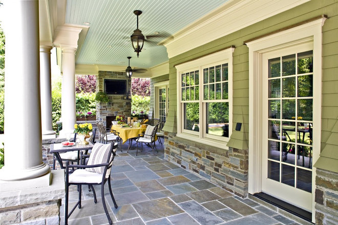 Traditional Porch by Gustavson Dundes