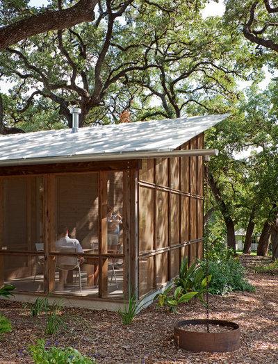 Modern Porch by Lake Flato Architects