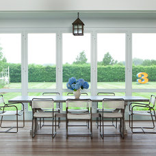 Transitional Porch by ALICE BLACK INTERIORS