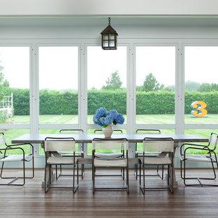 Imagen de porche cerrado clásico renovado grande