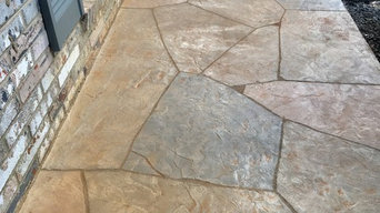 Hand Carved Flagstone Porch