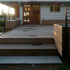 Contemporary Porch by Bennion Construction & Carpentry