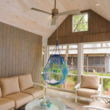 Beach Style Porch by Burton Builders