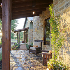 eclectic porch by Geschke Group Architecture