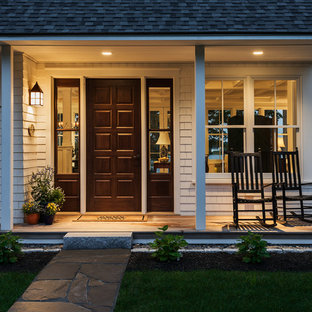 Inspiration for a coastal porch remodel in Portland Maine