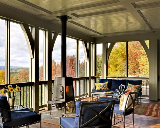 Wood burning stove houzz for Wood burning stove for screened porch