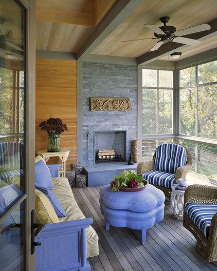Contemporary Porch by Interiors Studio Martha's Vineyard