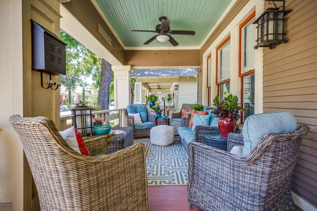 Craftsman Porch by Mission Accomplished Interior Design & Staging