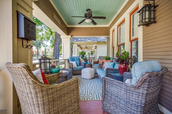 Craftsman Porch by Mission Accomplished Interior Design & Staging