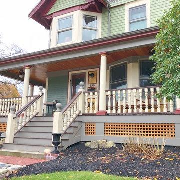 Historic Porch & siding Restoration - 19th Century Victorian