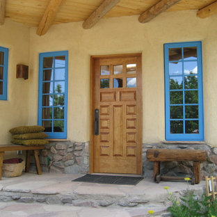 This is an example of a mediterranean porch design in Albuquerque.