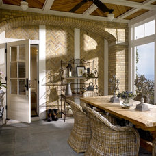 Transitional Porch by Morgante Wilson Architects