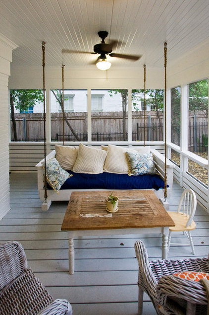 farmhouse porch by Moontower Design Build