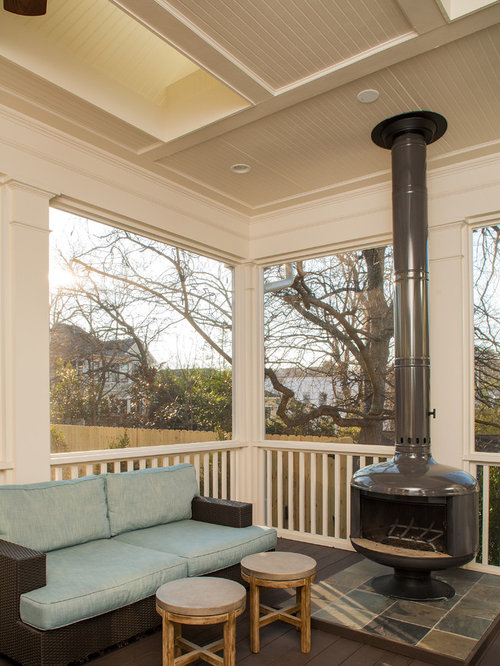 30 all time favorite craftsman front porch ideas photos for Wood burning stove for screened porch