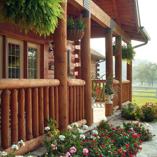 Esempio di un portico rustico