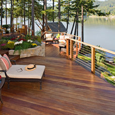 Contemporary Porch by Deck Builders Inc.