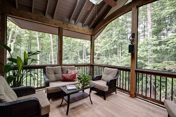 Craftsman Porch by Living Stone Construction, Inc.