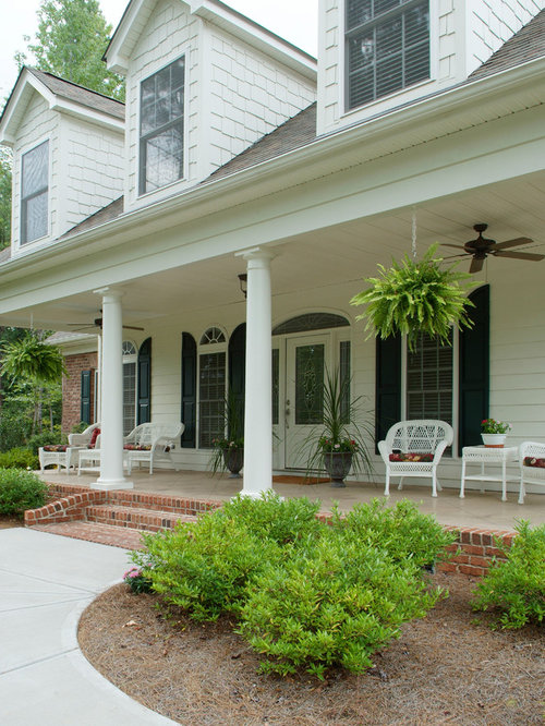 Small Front Porches Designs Front Porch Steps Porch Design: Concrete Porch Steps Home Design Ideas, Pictures, Remodel And Decor