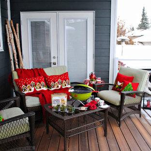 Aménagement d'un porche contemporain.
