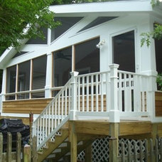 Traditional Porch by P. L. Johnson Construction, Inc.