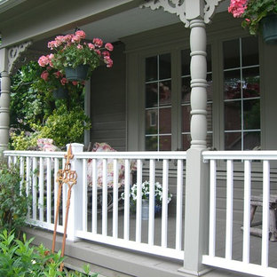 75 Beautiful Shabby Chic Style Front Porch Pictures Ideas