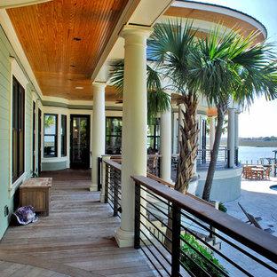 Island style porch idea in Charleston