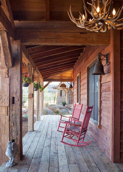 Rustic Porch by Treeline Homes, Inc.